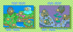 Jewelry Land, which consists of the Light Realm and Dark Realm, from Yoshi's Safari.