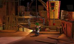 The Container Yard segment from Luigi's Mansion: Dark Moon.