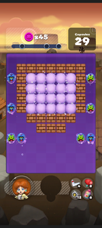 Stage 224 from Dr. Mario World