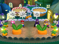 Garden Grab at night from Mario Party 6