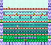 Level 6-5 map in the game Mario & Wario.