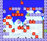 Level 7-6 map in the game Mario & Wario.