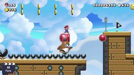 The Super Mario Maker 2 Story Mode level The World's Greatest Cannon Ride.