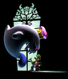 King Boo, looking at Luigi from Luigi's Mansion: Dark Moon