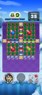 Stage 1032 from Dr. Mario World