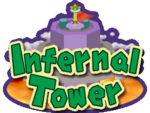 Logo for Infernal Tower in Mario Party 6
