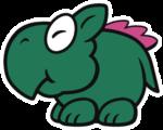 Dino Rhino sprite from Paper Mario: Color Splash