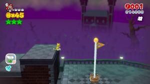Luigi sighting at Shifty Boo Mansion in Super Mario 3D World.