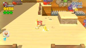 Luigi sighting in Ant Trooper Hill in Super Mario 3D World.