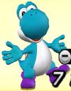 Light Blue Yoshi from Mario Super Sluggers