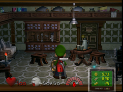 The Butler's Room in Luigi's Mansion
