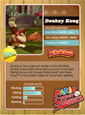 Level 1 Donkey Kong card from the Mario Super Sluggers card game