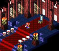 Mario walking through the Chancellor