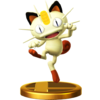 A trophy of Meowth, in Super Smash Bros. for Wii U.