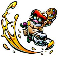 Artwork of Arty Wario from Wario: Master of Disguise