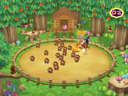 Wario in Word Herd from Mario Party 6