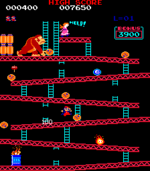 A screenshot of 25m from the arcade game Donkey Kong