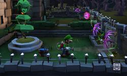 The Garden segment from Luigi's Mansion: Dark Moon.