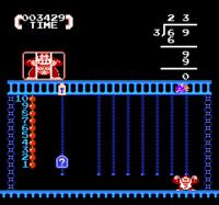 Screenshot from Donkey Kong Jr. + Jr. Sansū Lesson