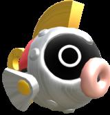 Rendered model of a Mecha Cheep in Mario Kart 8.