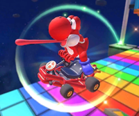 The icon of the Dry Bones Cup challenge from the Super Mario Kart Tour and the Fire Bro Cup challenge from the 2021 Trick Tour in Mario Kart Tour