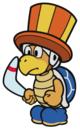 The Circus Bro sprite from Paper Mario: Color Splash.
