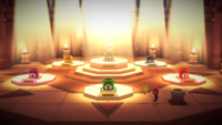 Mario near numbered cannons in Paper Mario: The Origami King
