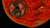 "A screenshot of Bowser Jr.'s Lava Reactor during ""King Kaliente's Spicy Return"" mission from Super Mario Galaxy."