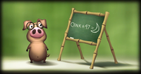 The Kong Gallery picture of Tutorial Pig from Donkey Kong Country Returns.