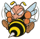 Artwork of a Bee, from Super Mario Land 2: 6 Golden Coins.