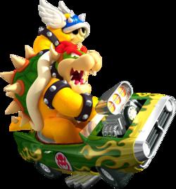 Bowser artwork for Mario Kart Wii