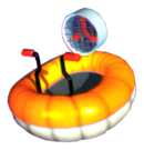 A Hovercraft from Diddy Kong Racing.