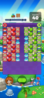 Stage 603 from Dr. Mario World