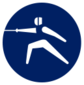 Event icon used for Fencing in Mario & Sonic at the Olympic Games Tokyo 2020