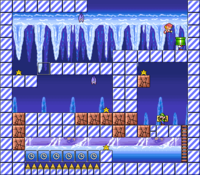 Level 4-1 map in the game Mario & Wario.