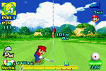 Mario taking a shot at the Marion course.