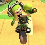 Inkling Girl performing a trick.