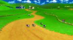 View of Moo Moo Meadows in Mario Kart Wii.