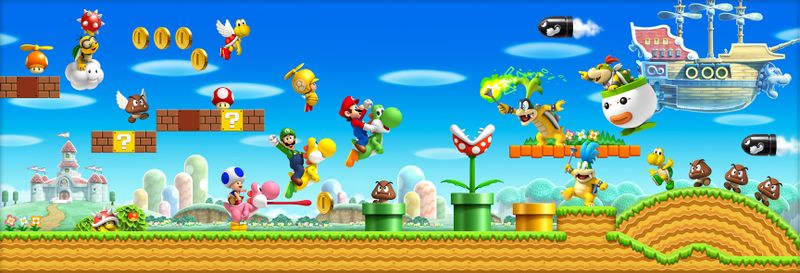 Wallpaper of New Super Mario Bros Wii