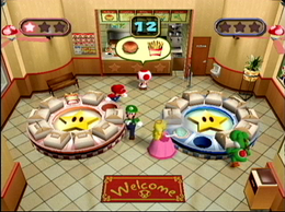 Gameplay of the Mario Party 4 minigame Order Up.