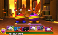 Screenshot of World 7-6, from Puzzle & Dragons: Super Mario Bros. Edition.