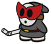 The Shy Bandit from Paper Mario: Color Splash.