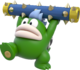 Artwork of a Spike from Super Mario 3D World.