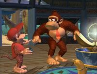 A screenshot from the Donkey Kong Country TV show episode, Bug a Boogie.