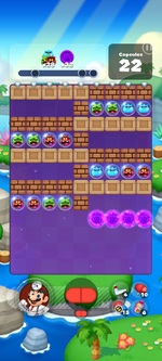 Stage 610 from Dr. Mario World