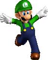 Luigi artwork from Super Mario 64 DS