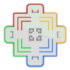 <small>SNES</small> Battle Course 1 minimap,from Mario Kart 8 Deluxe