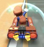 Mario (Classic) performing a trick.
