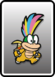 The fully painted Lemmy Card in Paper Mario: Color Splash.