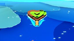 Heart Island in Paper Mario: The Origami King